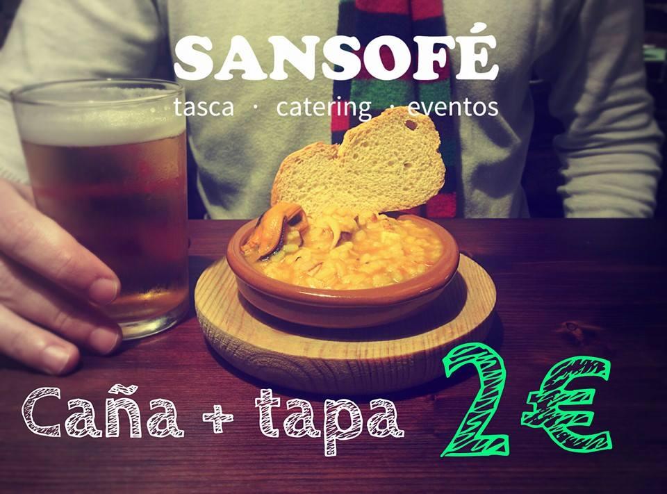 Tasca Sansofé viernes de tapa y caña