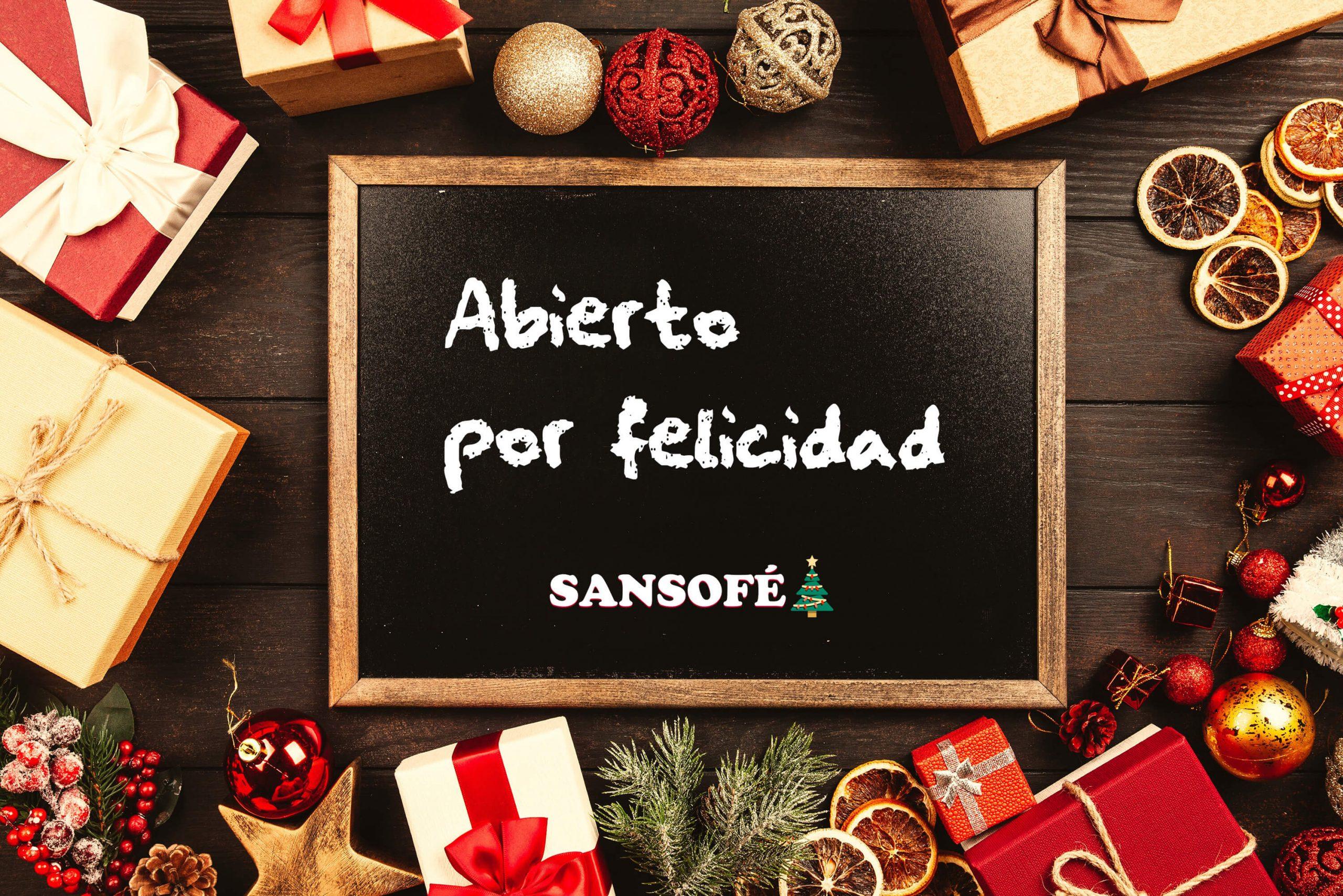 Tasca Sansofé Navidad abierto por Felicidad