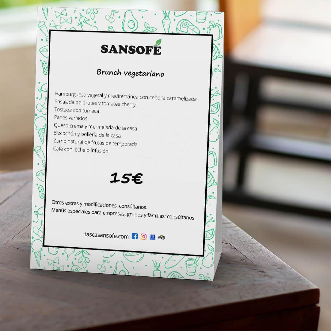 En Tasca Sansofé añadimos un nuevo menú brunch vegetariano a nuestra reconocida experiencia brunch