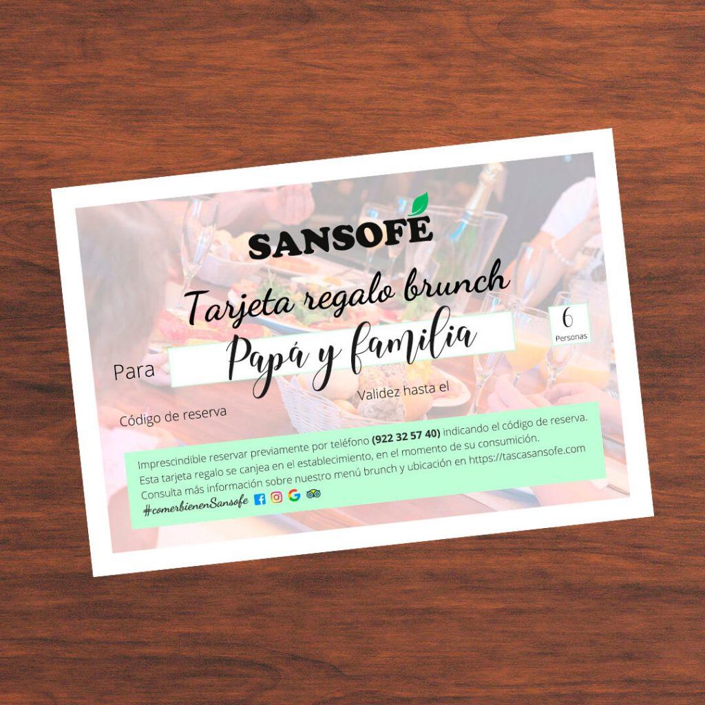 Tarjeta regalo Día del Padre Sansofé